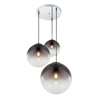 GLOBO 15861-3 | Varus Globo visilice svjetiljka 3x E27 poniklano mat, dim