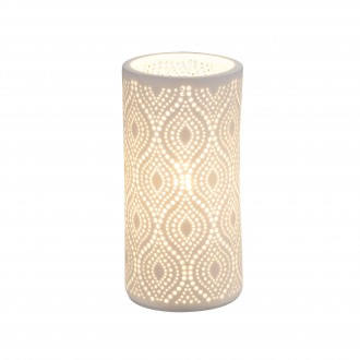 GLOBO 15917T | Cendres Globo stolna svjetiljka 20cm s prekidačem 1x E14 bijelo