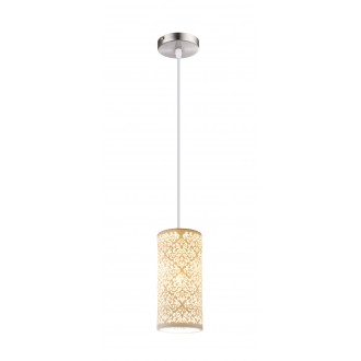 GLOBO 15918 | Cendres Globo visilice svjetiljka 1x E27 poniklano mat, bijelo