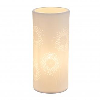 GLOBO 15919T | Cendres Globo stolna svjetiljka 24cm s prekidačem 1x E14 bijelo