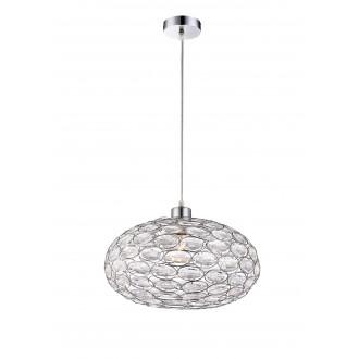 GLOBO 16036 | Megi Globo visilice svjetiljka 1x E27 krom, prozirno