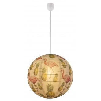 GLOBO 16921 | Flamant Globo visilice svjetiljka 1x E27 bijelo, šare