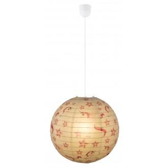 GLOBO 16922 | Licorne Globo visilice svjetiljka 1x E27 bijelo, šare