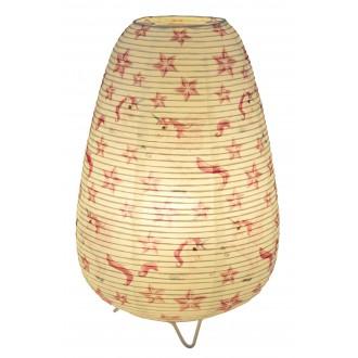 GLOBO 16922T | Licorne Globo stolna svjetiljka 34cm sa prekidačem na kablu 1x E14 bijelo, šare