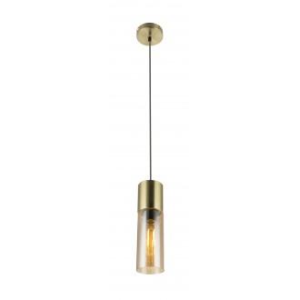 GLOBO 21000HM | Annikag Globo visilice svjetiljka 1x E27 brušeno zlato, jantar, smeđe
