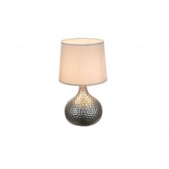 GLOBO 21655 | Soputan Globo stolna svjetiljka 37cm sa prekidačem na kablu 1x E14 krom, sivo