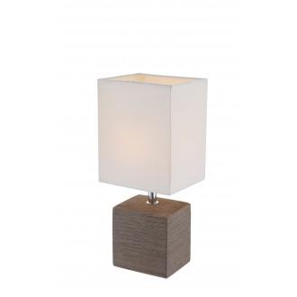 GLOBO 21677 | Geri Globo stolna svjetiljka 29cm s prekidačem 1x E14 krom, smeđe, bijelo