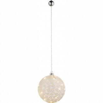 GLOBO 23232 | Kreta Globo dekoracija svjetiljka s prekidačem 10x LED poniklano mat, bijelo