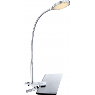 GLOBO 24103K | Pegasi Globo svjetiljke sa štipaljkama svjetiljka s prekidačem fleksibilna 1x LED 550lm 3000K krom, aluminij
