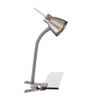 GLOBO 2476L | Nuova Globo svjetiljke sa štipaljkama svjetiljka s prekidačem fleksibilna 1x GU10 250lm 3000K poniklano mat