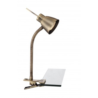 GLOBO 2477L | Nuova Globo svjetiljke sa štipaljkama svjetiljka s prekidačem fleksibilna 1x GU10 165lm 3000K antik bakar