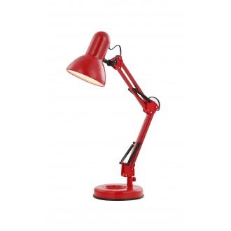 GLOBO 24882 | Famous Globo stolna svjetiljka s prekidačem elementi koji se mogu okretati 1x E27 crveno, crno
