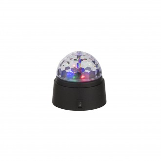 GLOBO 28014 | Disco Globo stolna svjetiljka 9cm s prekidačem 6x LED crno, višebojno