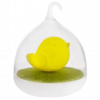 GLOBO 28038Y | Ampato Globo stolna svjetiljka 17cm sa tiristorski dodirnim prekidačem jačina svjetlosti se može podešavati, USB utikač 4x LED žuto, bijelo, zeleno