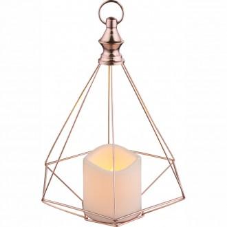 GLOBO 28197 | Spacy-1 Globo dekoracija svjetiljka s prekidačem 1x LED crveni bakar, bijelo