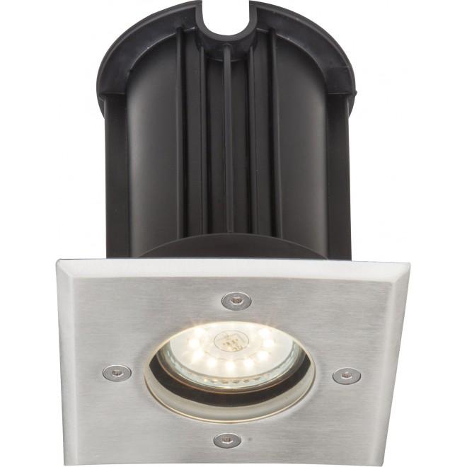 GLOBO 31101 | Style-II Globo ugradbena svjetiljka 110x110mm 1x GU10 IP67 čelik