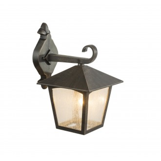 GLOBO 31556 | Piero Globo zidna svjetiljka 1x E27 IP44 tamno brušena, prozirna