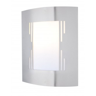 GLOBO 3156-3 | Orlando Globo zidna svjetiljka 1x E27 IP44 čelik, opal