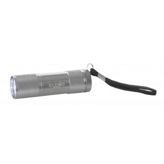 GLOBO 31903 | Flashlight Globo nosiva svjetiljka s prekidačem baterijska/akumulatorska 9x LED 43lm aluminij, crno