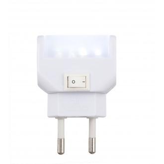 GLOBO 31908 | Chaser Globo noćno svjetlo svjetiljka s prekidačem utična svjetiljka 4x LED 25lm 6400K bijelo
