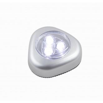 GLOBO 31909 | Flashlight Globo noćno svjetlo svjetiljka s prekidačem baterijska/akumulatorska 3x LED 20lm srebrno