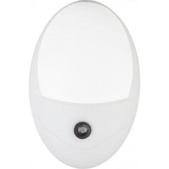 GLOBO 31934W | Enio Globo noćno svjetlo svjetiljka svjetlosni senzor - sumračni prekidač utična svjetiljka 4x LED 20lm 6500K bijelo