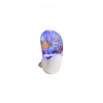 GLOBO 31937 | Enio Globo noćno svjetlo svjetiljka sa senzorom, svjetlosni senzor - sumračni prekidač utična svjetiljka 3x LED RGBK bijelo, višebojno