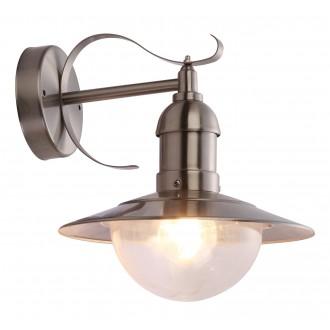 GLOBO 3270 | Mixed Globo zidna svjetiljka 1x E27 IP44 čelik, prozirna