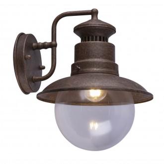 GLOBO 3272R | Sella-GL Globo zidna svjetiljka 1x E27 IP44 boja rdže, prozirno