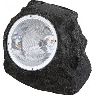 GLOBO 3302 | Soglo15 Globo u obliku kamena svjetiljka solarna baterija 4x LED IP44 sivo