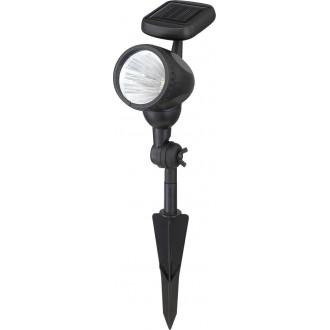 GLOBO 33026 | Soglo96 Globo zidna, ubodne svjetiljke svjetiljka solarna baterija, pomjerljivo 3x LED crno, prozirno