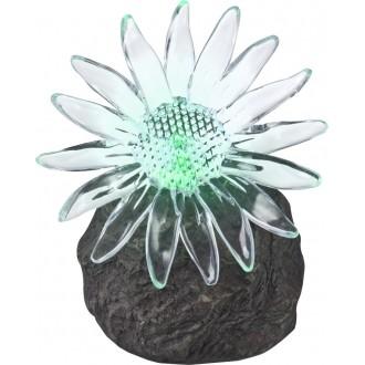 GLOBO 33912 | Soglo85 Globo u obliku kamena svjetiljka solarna baterija, promjenjive boje 1x LED IP44 sivo, prozirno