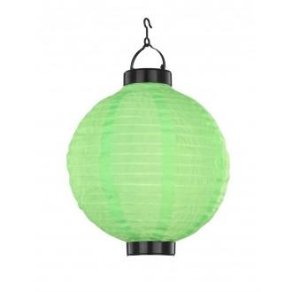 GLOBO 33970G | Soglo84 Globo visilice svjetiljka solarna baterija 1x LED IP44 zeleno, crno