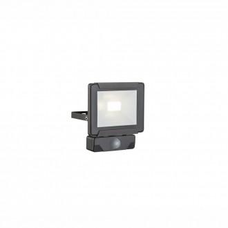 GLOBO 34009S | Urmia Globo reflektor svjetiljka sa senzorom elementi koji se mogu okretati 1x LED 800lm 4000K IP44 crno
