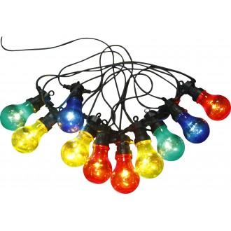 GLOBO 3400S | Nirvana Globo dekoracija svjetiljka 10x LED 180lm IP44 crno, višebojno