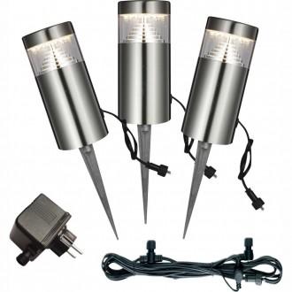 GLOBO 34075-3 | Poggy Globo ubodne svjetiljke svjetiljka trodijelni set 3x LED 200lm 3000K IP44 sivo