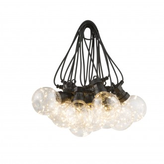 GLOBO 34090 | Almaga Globo dekoracija svjetiljka 10x LED 220lm 2700K IP44 crno, prozirno