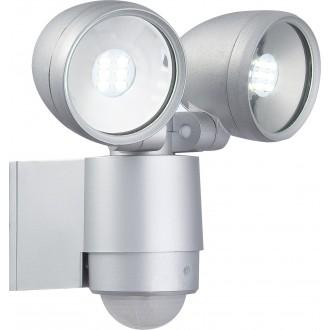 GLOBO 34105-2S | Radiator-II Globo reflektor svjetiljka sa senzorom elementi koji se mogu okretati 2x LED 660lm 6500K IP44 aluminij, prozirno
