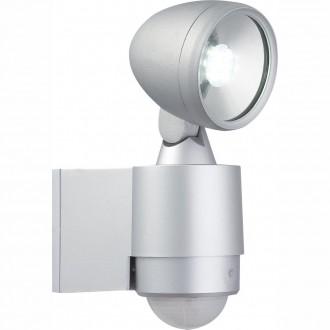 GLOBO 34105S | Radiator-II Globo reflektor svjetiljka sa senzorom elementi koji se mogu okretati 6x LED 240lm 6500K IP44 srebrno, prozirno