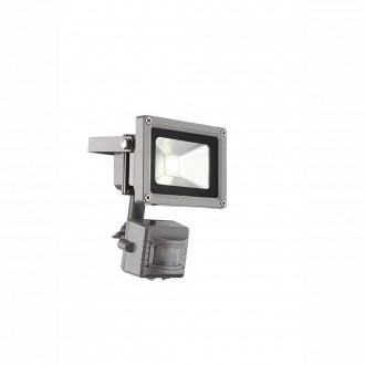 GLOBO 34107S | Radiator-IV Globo reflektor svjetiljka sa senzorom elementi koji se mogu okretati 1x LED 550lm 6400K IP44 sivo, prozirno