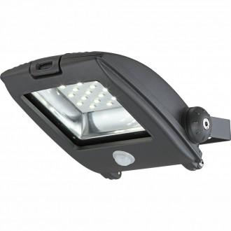 GLOBO 34218S | Projecteur-I Globo reflektor svjetiljka sa senzorom elementi koji se mogu okretati 1x LED 750lm 6500K IP65 tamno sivo, prozirno