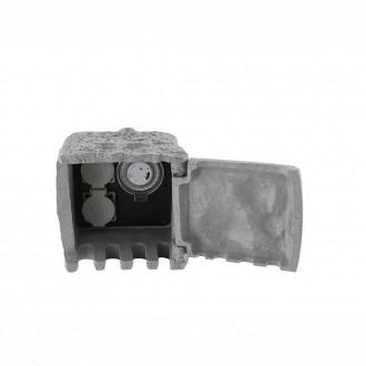 GLOBO 37001-2Z | Globo utičnica u obliku kamena timer IP44 sivo