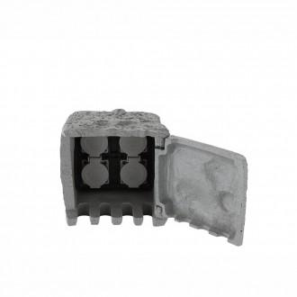 GLOBO 37001-4 | Globo utičnica u obliku kamena IP44 sivo