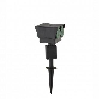 GLOBO 37008-4 | Pietra-III Globo ubodne svjetiljke utikačni stup s utičnicom IP44 crno
