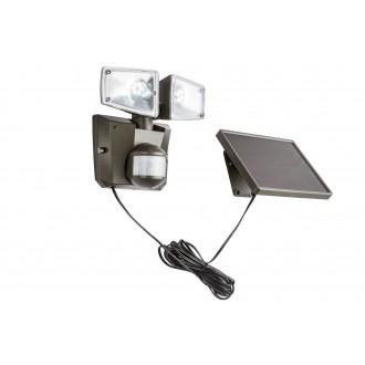 GLOBO 3717S | Solar-G Globo reflektor svjetiljka sa senzorom solarna baterija, pomjerljivo 2x LED 480lm 6500K IP44 antracit