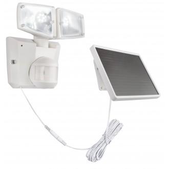 GLOBO 3718S | Radiator-Sol-III Globo reflektor svjetiljka sa senzorom solarna baterija, pomjerljivo 2x LED 480lm 6500K IP44 bijelo, prozirna