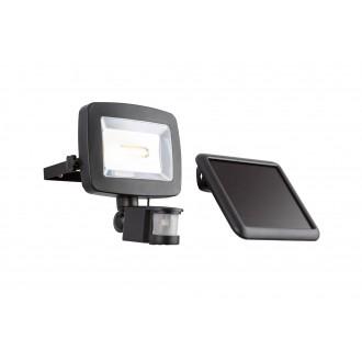GLOBO 37201S | Solar-G Globo reflektor svjetiljka sa senzorom solarna baterija, pomjerljivo 1x LED 600lm 3500K IP44 antracit