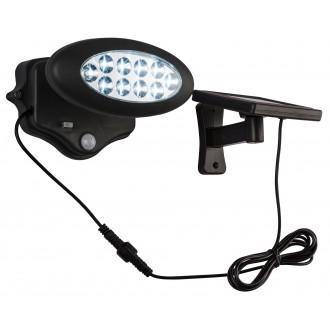GLOBO 3722S | Solar-G Globo reflektor svjetiljka sa senzorom solarna baterija, pomjerljivo 10x LED 50lm 8500K IP44 antracit