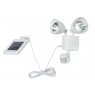 GLOBO 3723S | Solar-G Globo reflektor svjetiljka sa senzorom solarna baterija, pomjerljivo 22x LED 120lm 7500K IP44 bijelo