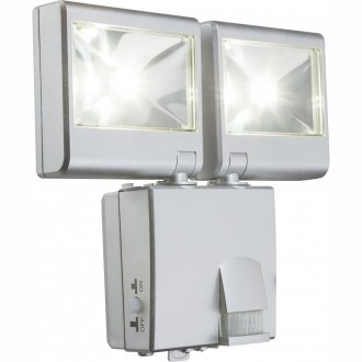 GLOBO 3724S | Solar-G Globo zidna svjetiljka sa senzorom solarna baterija 2x LED 90lm 5000K IP44 srebrno